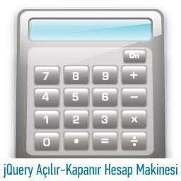 jQuery Açılır-Kapanır Hesap Makinesi