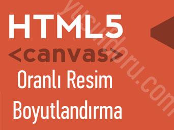 HTML5 Canvas ile Oranlı Resim Boyutlandırma